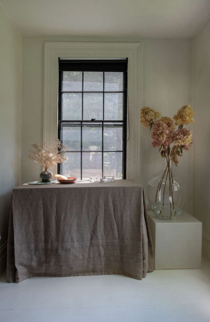 Artist Helen Dealtry has a studio in downtown Hudson, New York, near her house, and often paints her watercolors from cut flowers she picks up at nearby Cedar Farm Wholesale.Photograph by Alison Engstrom.