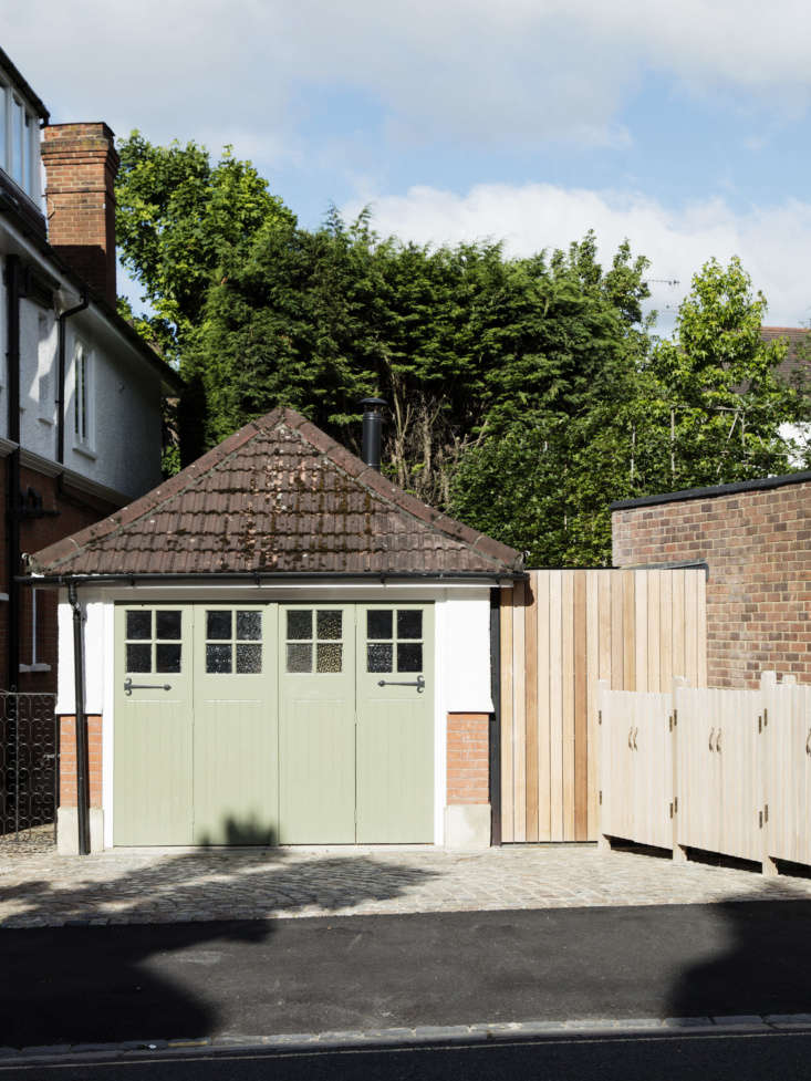 See more of this garage inA Garage Converted into a Compact Guest Cottage, Courtesy of Mark Lewis on Remodelista.