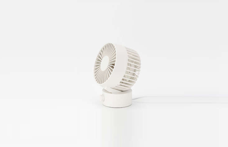 A Low-Noise Desk Fan from Muji, operated by USB cable, is \$\29.50.