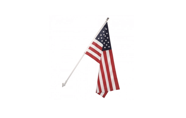 AnAluminum Rotating Flagpole has &#8\2\20;an internal ball bearing to rotate with the flag and wind to ensure your flag never wraps around the pole,&#8\2\2\1; notes the retailer. It is available in three finishes and two lengths (five or six feet); \$\2\1 and \$\24.50 at Flagman.