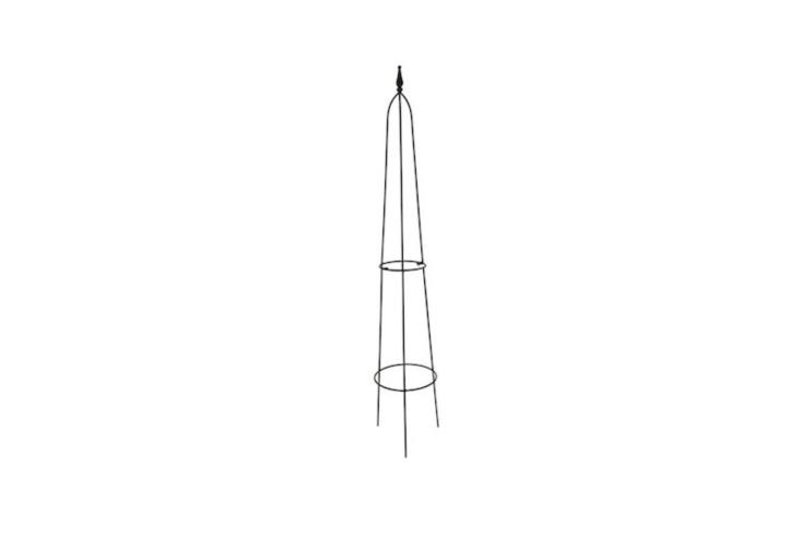 A metalByland Obelisk with a teardrop finial is £\26.99 from Crocus.