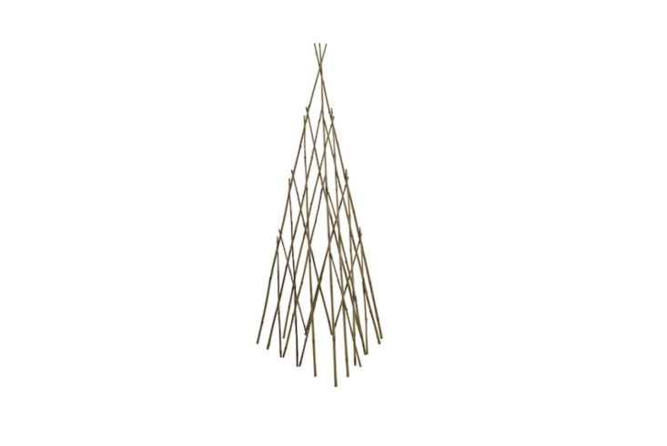 A set of six Wood Obelisk Trellises made of bamboo is $loading=