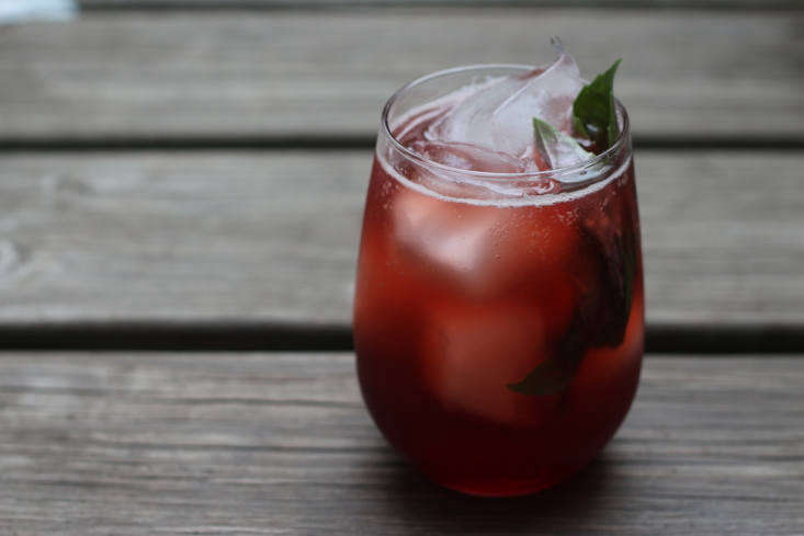 The perfect cocktail for August: The ingredients include black cherry cordial, vermouth, and elderberry gin.