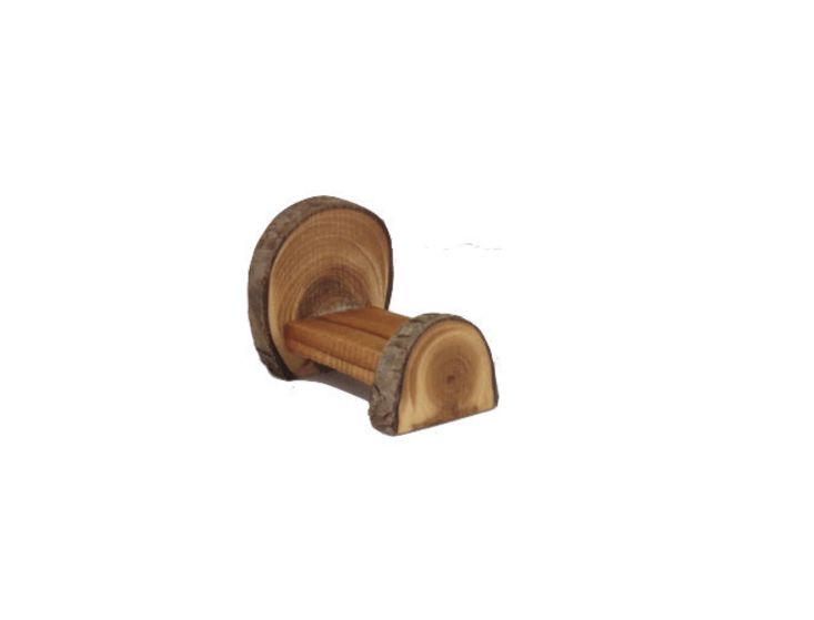 Just one inch high and made of yew, aWooden Fairy Bed is \$9 from Schoolhouse Woodcraft via Etsy.
