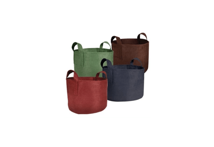 Available in four colors and seven sizes, a Root Pouch Non-Degradable Reusable Grow Bag is \$4.99 to \$\1\2.99, depending on size, at Gardener&#8\2\17;s Edge.