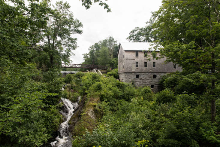 The Lost Kitchen is located in the Mill at Freedom Falls, which was saved from abandonment and sits perched above a wide creek.