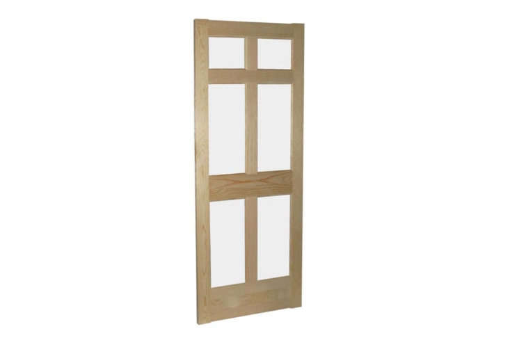 Made of white pine, a 6-Lite Storm Door is &#8