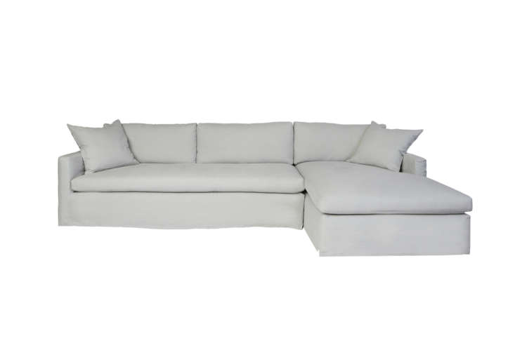 TheCisco Brothers Louis Two-Piece Sectional Sofacomes in a right or left chaise configuration and is available in the full range of Cisco Brothers upholstery options. ContactCisco Brothers for price and retailer information.