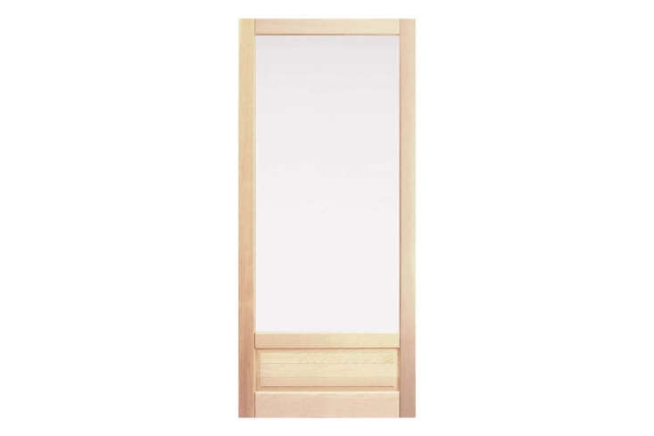 The Fir Storm Door with Low Single Panel starts at $649 at Rejuvenation.