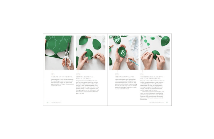 With step-by-step instructions to make 30 paper plants, Handmade Houseplants is \$\13.36 from Amazon. Photographs by Christine Han.