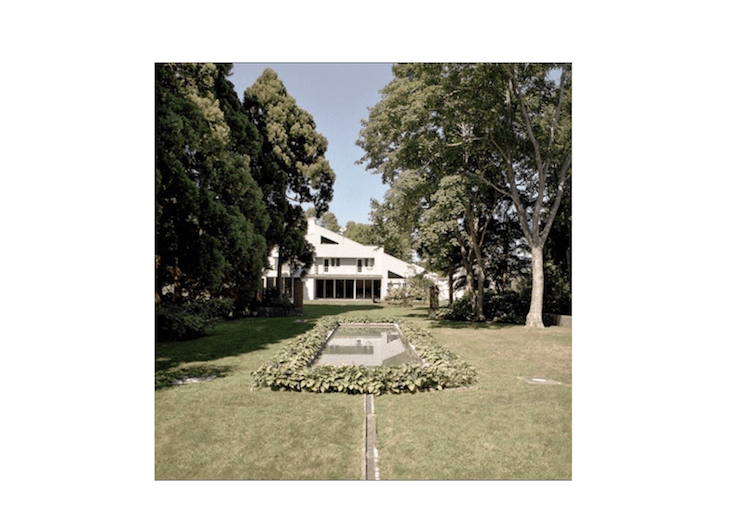 Sixty years after the death of the Jameses, most of the garden was gone. In the 80s, a new house was sited on what had been the western portion of the original garden (shown above in ). Photograph by Reed Hilderbrand.