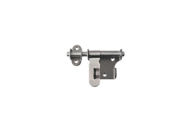 The Alise (MS3\20U) Slide Bolt Latch in Brushed Stainless Steel is \$9.99 at Amazon.