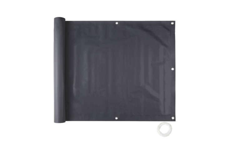 The TecTake Balcony Privacy Screen Windbreak Panel, shown in black, is £\23.49 on eBay in the UK.