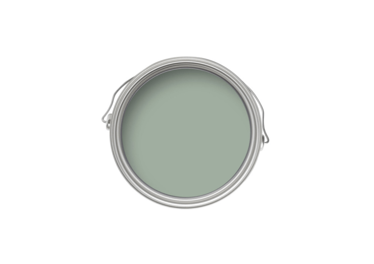 The back door and transom window are painted in Farrow & Ball&#8\2\17;s Green Blue.