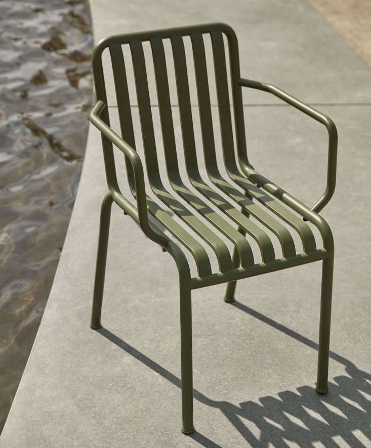 The Hay Palissade Armchair in Olive is designed by the Bouroullec brothers for Hay; \$\295 each from Finnish Design Shop.