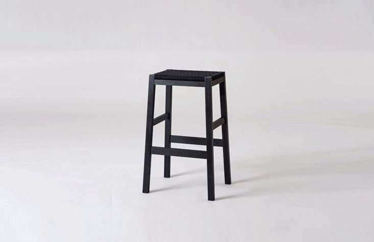 A Simple Stoolhas a black Shaker tape seat.
