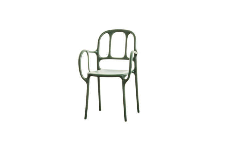 The Mila Chair in Green is designed by Jaime Hayón for Magis; \$\189 at Finnish Design Shop.