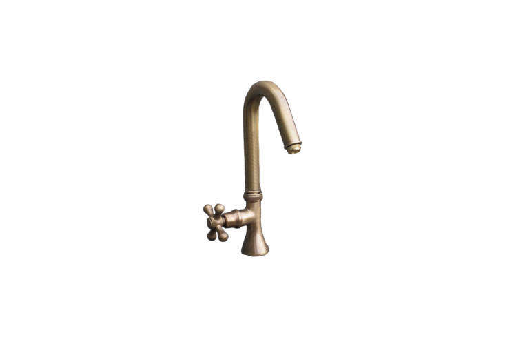 From German reproduction specialists Replicata, the Water Tap Elliptic Faucet in Patinated Brass is €