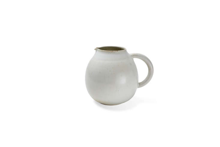 From ABC Carpet & Home&#8\2\17;s own line, the ABC Cocina Ivory Pitcher is designed in Burgundy, France and made from sandstone extracted in the village of St. Amand and finished with a handmade glaze; \$95.