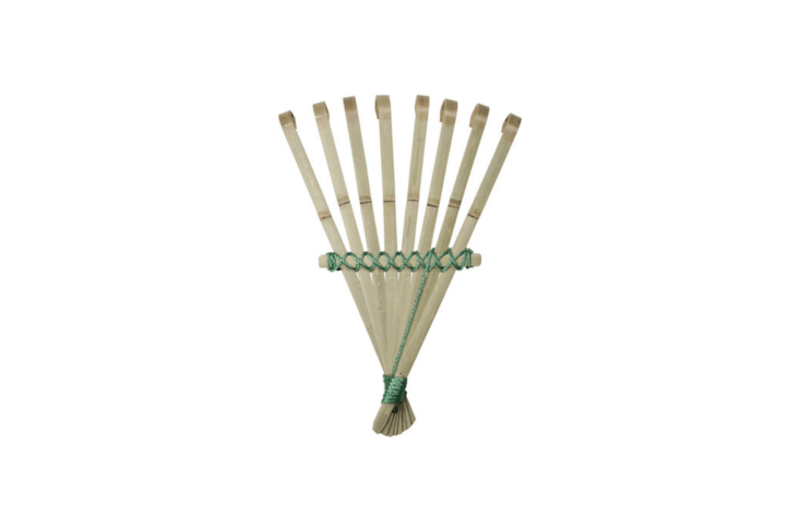 As anyone who ever has tried to tease out tangled leaves from beneath a strawberry patch can tell you, a Bamboo Hand Rake is the right tool for a delicate job; £ from Niwaki.