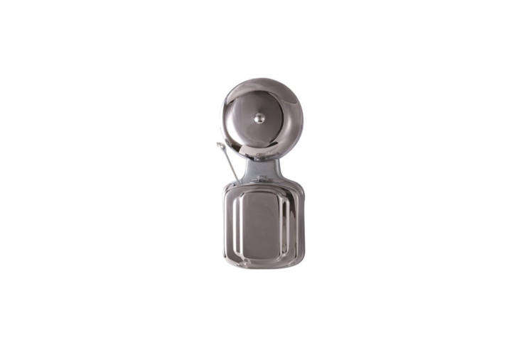 The Electric Doorbell with a snap-on aluminum cover is available from Supply Works. Contact for pricing and availability.