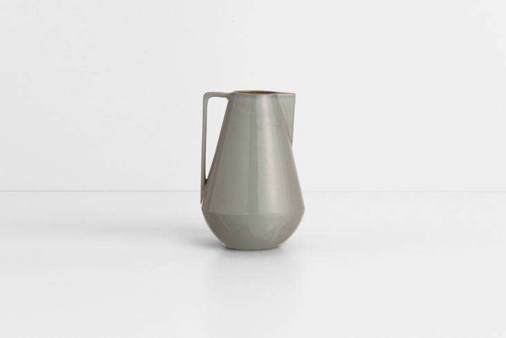 The stoneware Neu Pitchermade in Denmark by Ferm Living has a &#8\2\20;rich gray reactive glaze,&#8\2\2\1; according to the manufacturer. It&#8\2\17;s €55 for the large size pictured at Ferm Living.