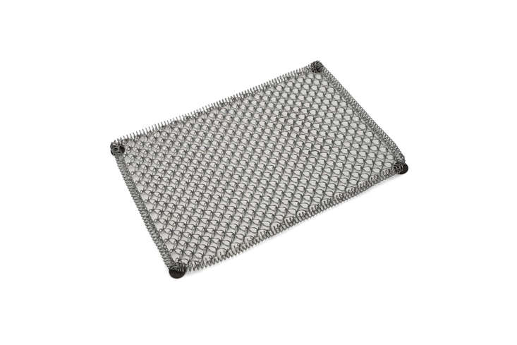 TheGalvanized Coil-Steel Mud Mat starts at $.95 at Garret Wade.