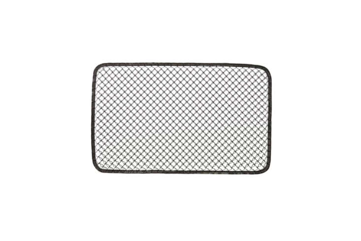 The Galghard Wire Doormat from Gracie Oaks is made of coiled wire with a brown finis; \$48.99 at Wayfair.