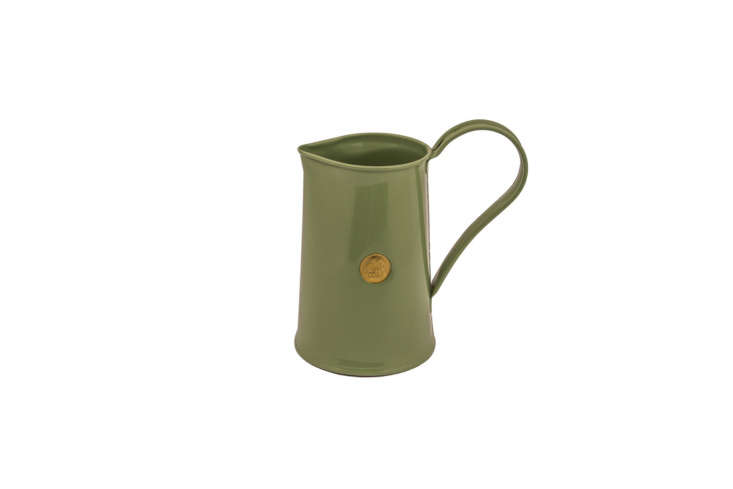 A galvanized steel 9\2\2\2 Classic Jug watering pitcher from Haws can be used as a vase for cut flowers and is available in five powder coated colors including Sage as shown; £\15.99 at Haws.