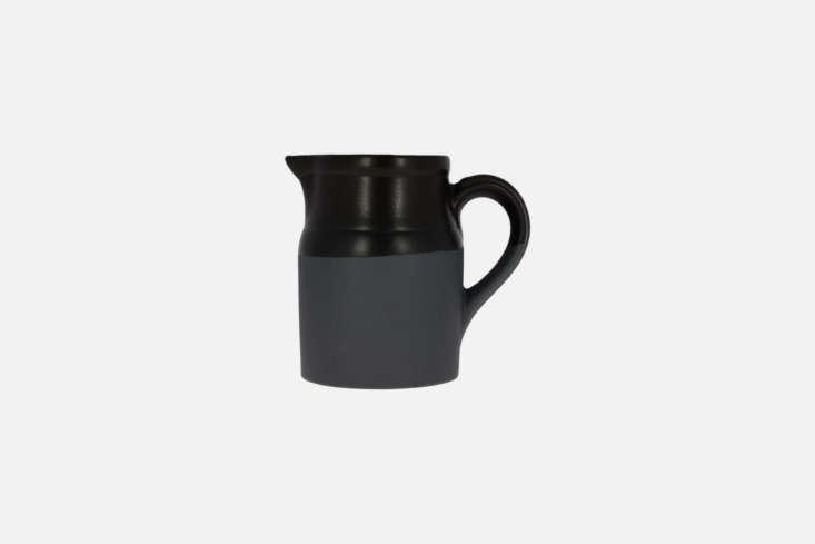 By Manufacturer of Digoin, the Pot Parisien Noir is made of deep black glazed stoneware in France; €49.50 atLa Trésorerie.