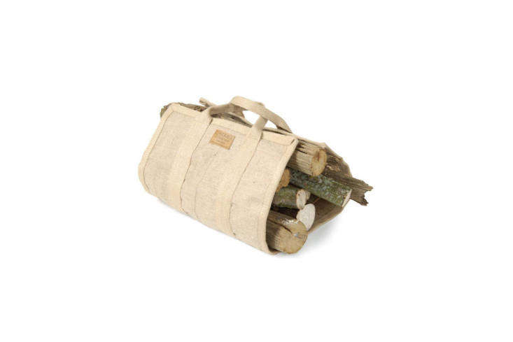 The Carrier Company offers an all-jute Log Carrier that measures 5