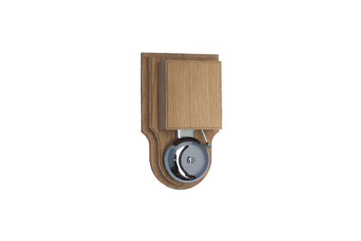 The London Striker Chrome Doorbell/Buzzer in Natural Oak is £4\1.95 at Doorbell World in the UK.