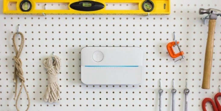 A slimRachio 3 Smart Sprinkler Controllermeasures 9.\1 by 5.5 inches (and is \1.4 inches deep); \$\2\29.99.