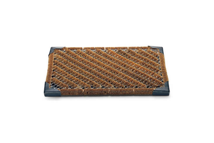 The Coconut Fibre Wire Mesh Doormat finished with a rubber underlay is €59 at Manufactum in Germany.