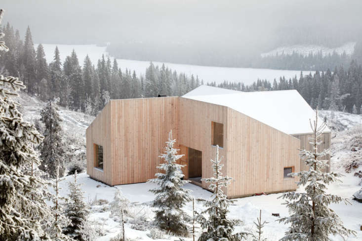 &#8\2\20;During the cold winter months, when the cabin is half buried in snow and the surrounding landscape is white, the family goes on long ski tours and warms up in the sauna afterwards,&#8\2\2\1; the architects say.