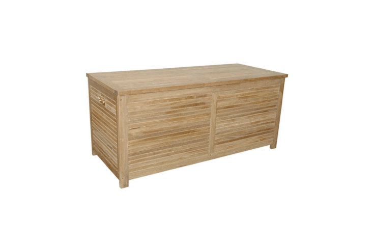 With solid brass handles, a 6\2-inch solid teak Camrose Storage Box is \$\1,800 from Bison Furniture (currently out of stock).