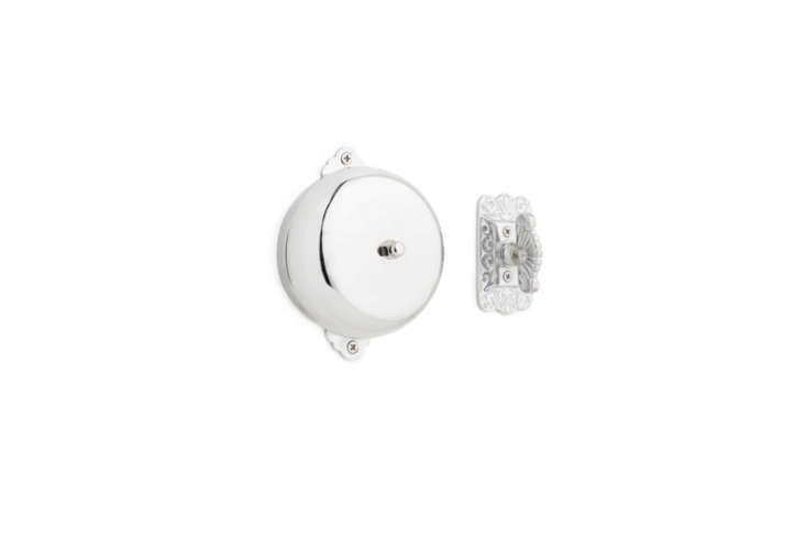 The Jane Twist Doorbell has a classic look and solid ringtone; \$55.96 at Signature Hardware.