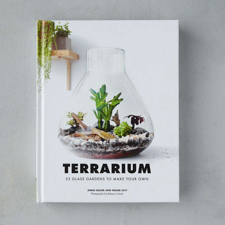 Just when you thought there was nothing left to say on the topic, Terrarium: 33 Glass Gardens to Make Your Own by Anna Bauer and Noam Levy hassimple, step-by-step instructions for 33 simple, sculptural projects. A hardcover copy is $.95 at Terrain.