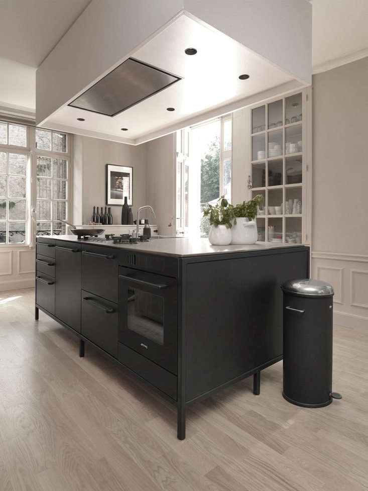 Champagne-based viticulturist Cédric Bouchard installed a Danish Vipp kitchen when he remodeled a 300-year-old manor house in the French countryside. Photograph (and top photograph in the post) courtesy of Vipp.
