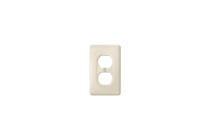 The Amerelle (30DBT) Allena Biscuit Ceramic Duplex Wallplate is $5.49 at Wall Plate Warehouse.