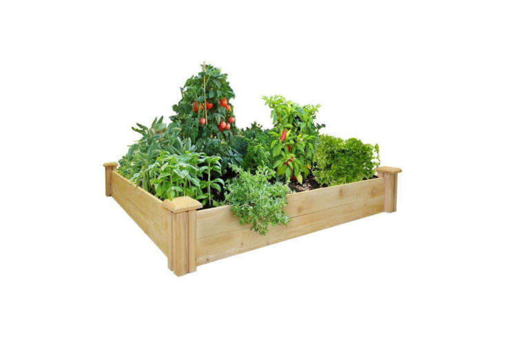 You&#8\2\17;ll need a raised bed to start your square foot garden. An easy way to build one is to buy a kit. This 4-by-4-foot Cedar Raised Garden Bed is \$49.95 at Greenes Fence Company. See\10 Easy Pieces: Raised Bed Kitsfor more kits we like.