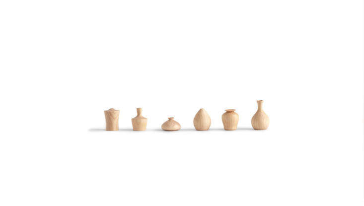This year we took note of a new trend: teeny tiny vases for miniature arrangements. Give the DIY arranger on your list a diminutive vase to start their collection, like one of these wooden Chiisaki Hanaire Mini Vases from Nalata Nalata, \$30 each. For arrangement ideas, see Tiny Bouquets: 8 Ideas for Floral Arrangements in Miniature Vases.