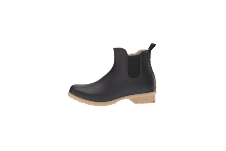 A pair of waterproof rubber Chooka Bainbridge Chelsea Ankle Boots is \$65 from Zappos.