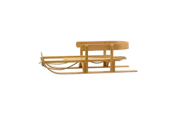 Another classic from Northern Toboggan Co. in Minnesota, the Wooden Pull Sled is made from red oak, stainless steel hardware, and braided rope; $9 at Northern Toboggan Co.
