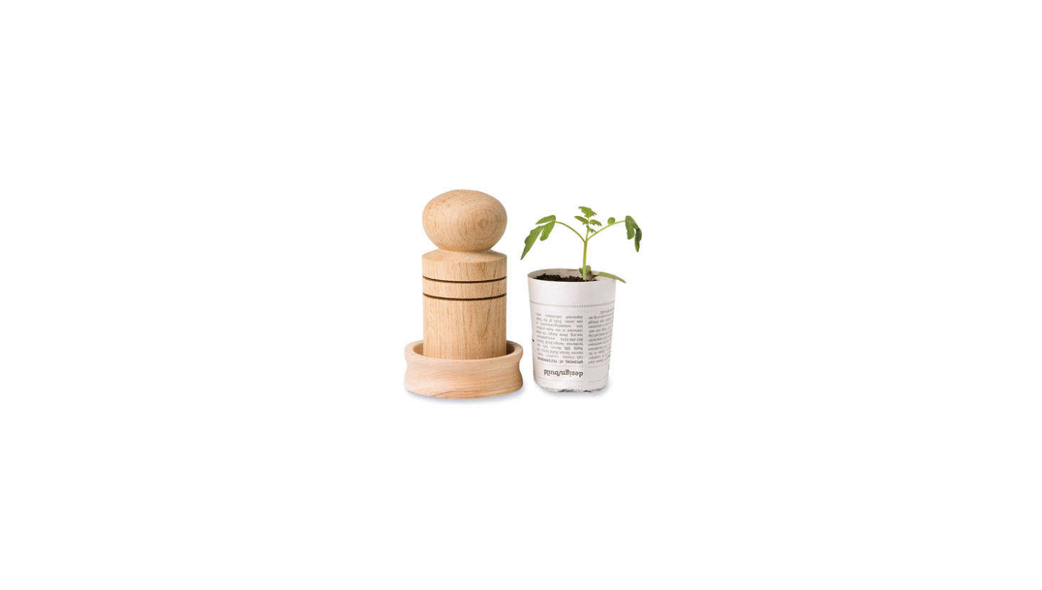 For the crafty (and eco-minded) gardener: a Paper Pot Maker transforms newsprint into little pots for seedlings. (Plus, the paper pots are biodegradable, so they can be planted directly in the ground when the time comes.) The wooden tool is $.95 from Gardeners.com.