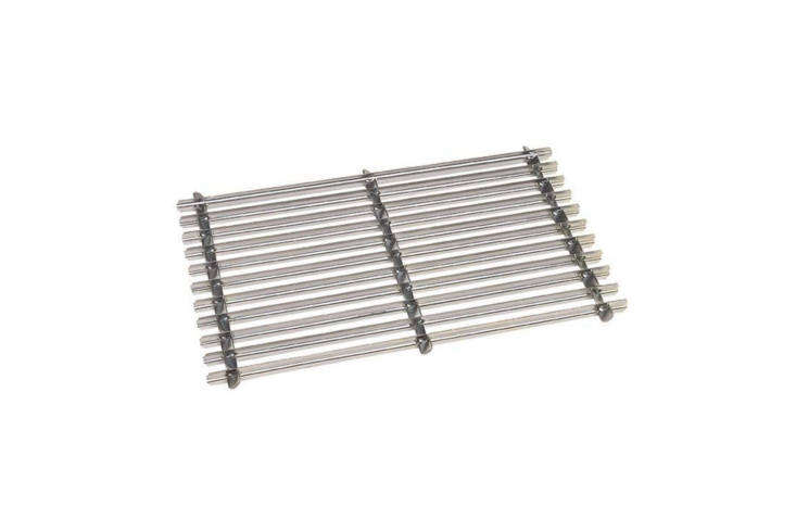 The Parasene 968 Galvanised Boot Scraper Mat is silver-colored steel; £.99 at eBay.
