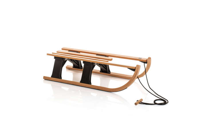 The Sirch Foldable Davoser Sled Lillhammer is a small sled that collapses for easy off-season storage; $loading=