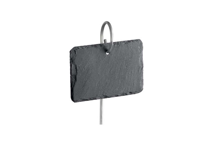 These Slate Plant Labels can be written on in chalk, making them reusable year after year; $.95 for a -pack with