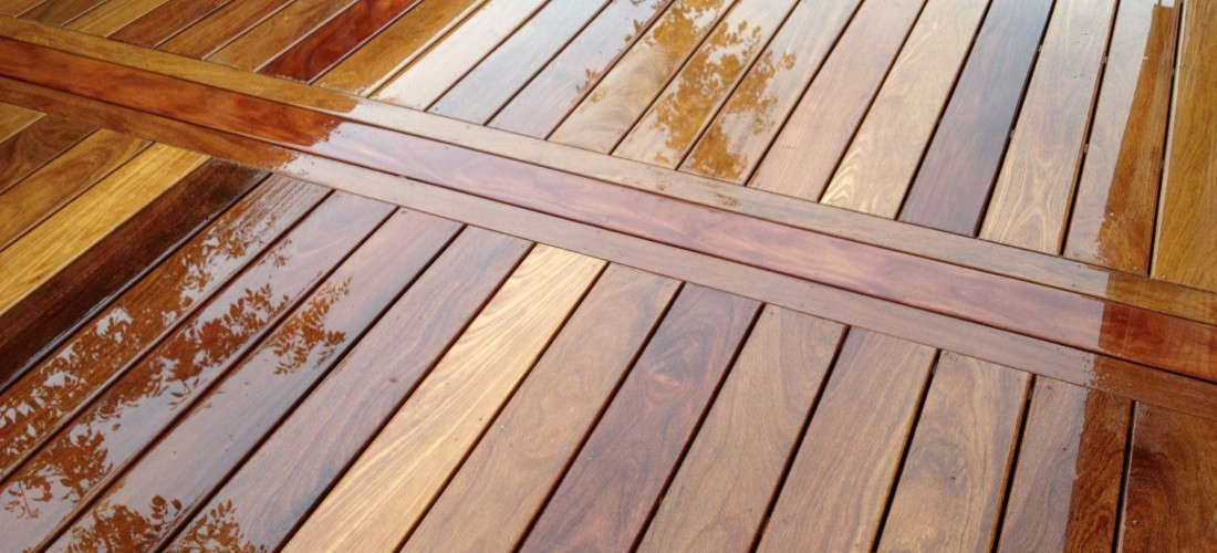 A custom Brazilian teak deck. For more information and pricing, see Creative Fences & Decks.