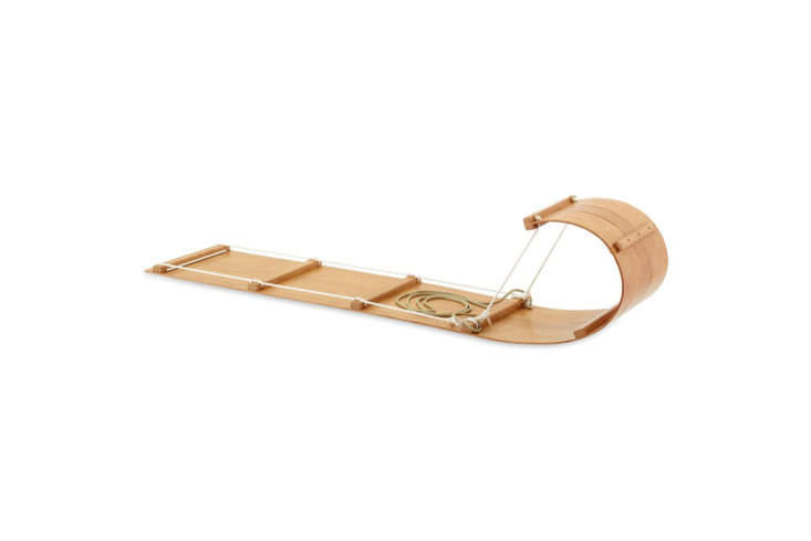 Made by Northern Toboggan Co., a family-run company in northern Minnesota, the Classic Wood Toboggan Sled is six feet long and fits two adults or two kids made from red oak; $473 at Northern Toboggan Co.